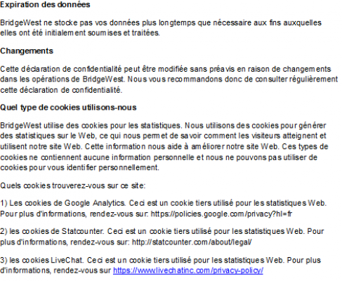 privacy policy 2 FR